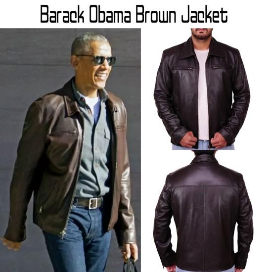 Barack Obama Brown Jacket
