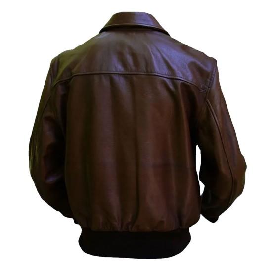 Barnstormer Brown Leather Jacket