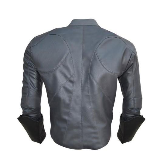Batman Arkham Knight Game Batman Grey Leather Jacket