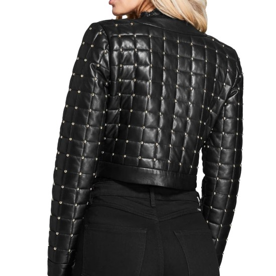 Batwoman Nicole Kang Black Leather Studded Jacket