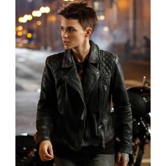 Batwoman Ruby Rose Black Leather Jacket