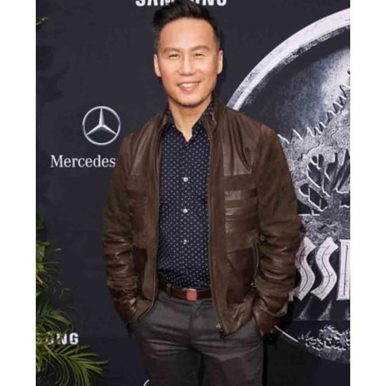 B. D. Wong Suede Brown Jacket
