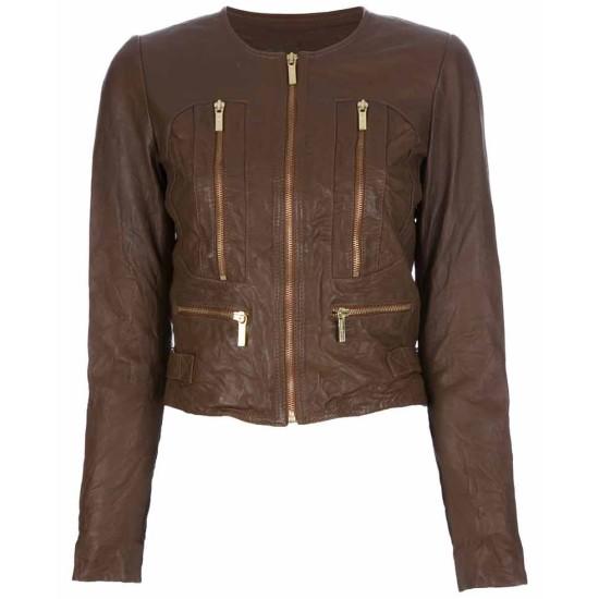 Beauty & The Beast Kristin Kreuk Cropped Leather Jacket