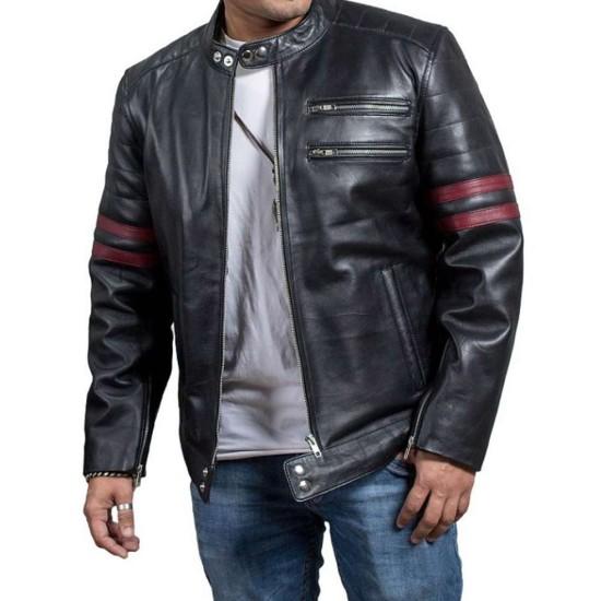 Being Human Sam Witwer Black Leather Biker Jacket