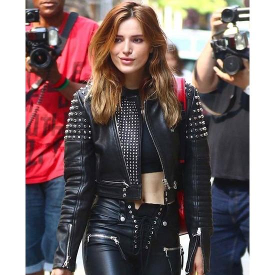 Bella Thorne Studded Leather Jacket