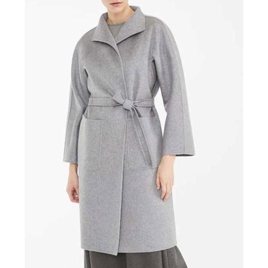 Finding Alice Keeley Hawes Wool Coat