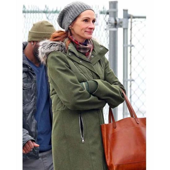 Ben Is Back Julia Roberts Green Coat