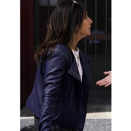 Better Things S04 Pamela Adlon Blue Leather Jacket