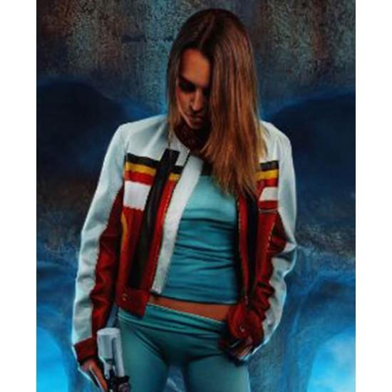 Bianca Bradey Violent Starr Biker Leather Jacket