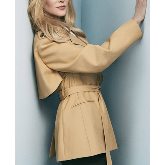 Big Little Lies Nicole Kidman Brown Coat