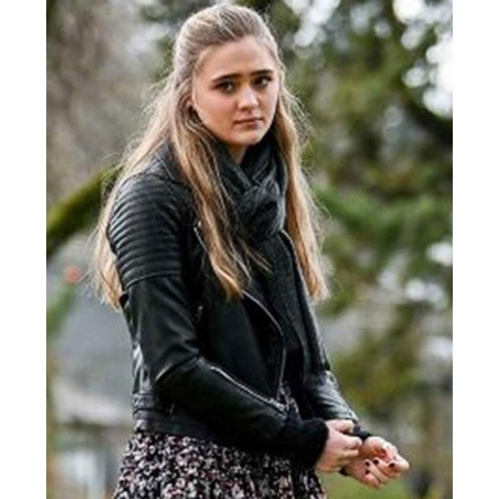 A Million Little Things Lizzy Greene Black Leather Jacket