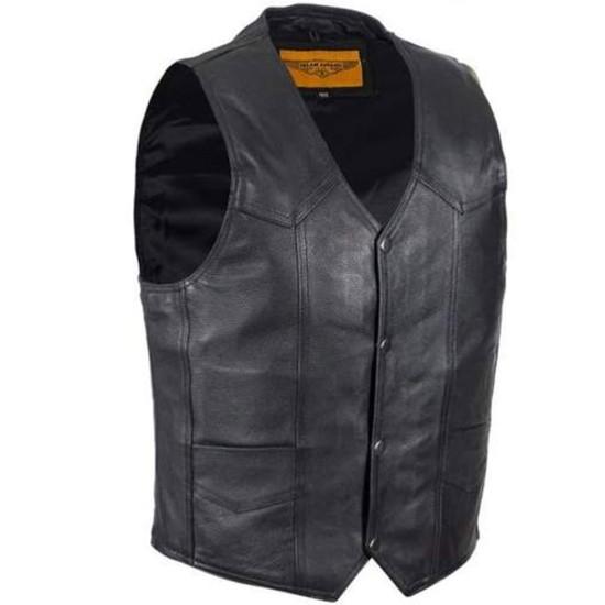 Men's Hells Angels Biker Leather Vest