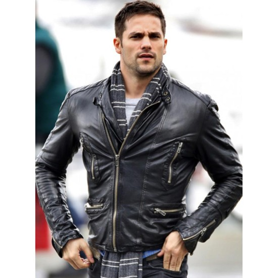 Slim Fit Street Style Brant Daugherty Leather Jacket