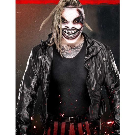 Bray Wyatt The Fiend Biker Style Leather Jacket