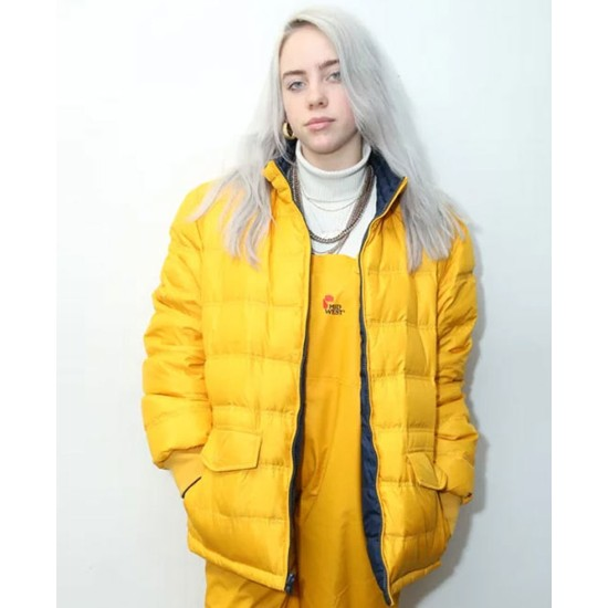 Billie Eilish Singer Yellow Jacket