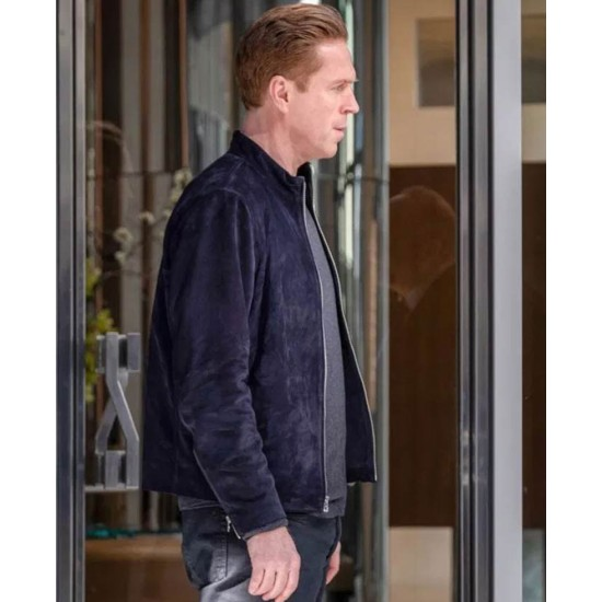 Billions Season 05 Damian Lewis Suede Leather Jacket