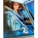 Bird Box Sandra Bullock Blue Coat