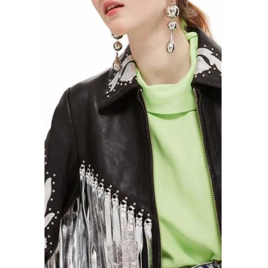 Birds of Prey Margot Robbie Fringe Jacket