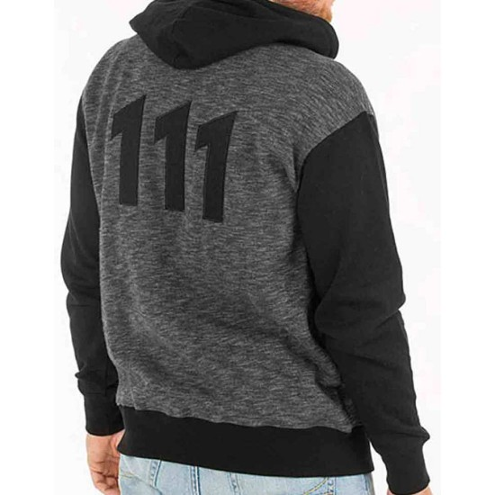 Fallout Vault 111 Black and Grey Hoodie