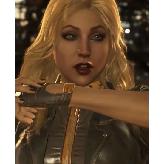 Injustice 2 Black Canary Leather Jacket