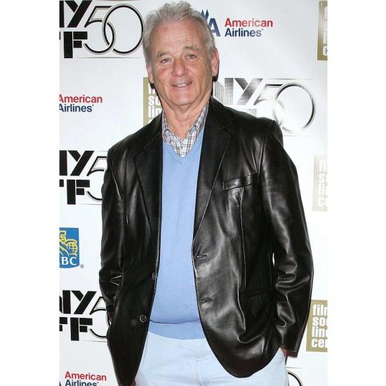 Bill Murray Black Leather Blazer Jacket