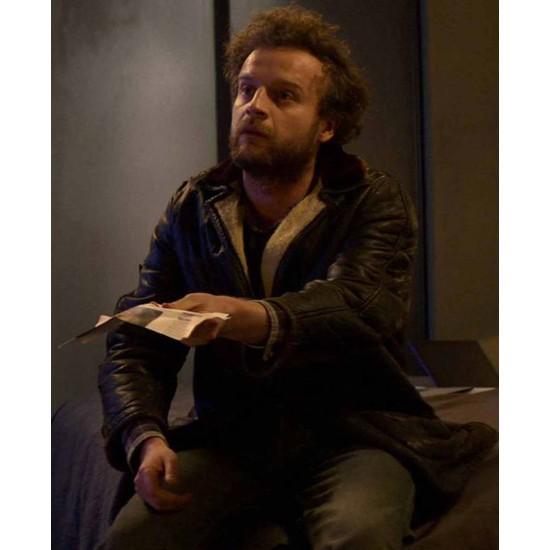 Black Mirror Andrew Gower Black Leather Jacket