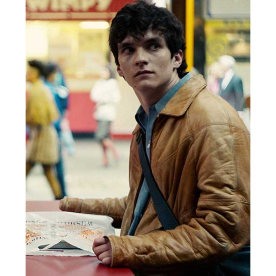 Black Mirror Bandersnatch Fionn Whitehead Brown Leather Jacket