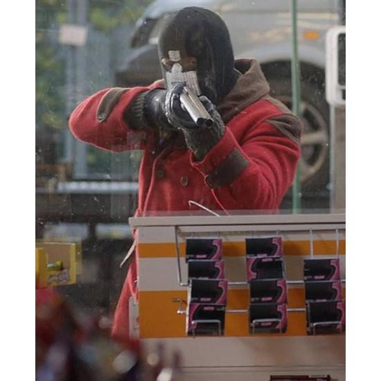 Black Mirror Lee Nicholas Harris Red Long Jacket