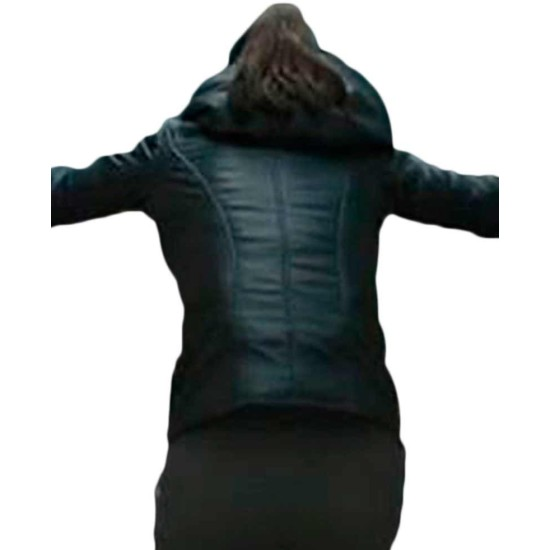 Blade Runner 2049 Sylvia Hoeks Black Leather Jacket