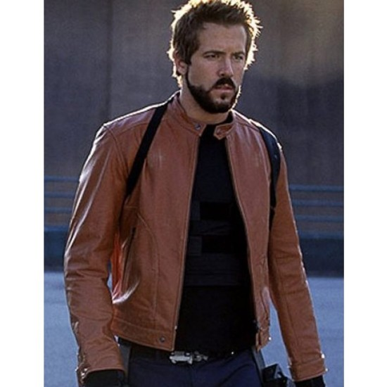 Blade Trinity Ryan Reynolds Brown Leather Jacket