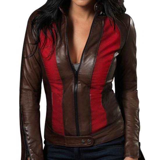 Blade Trinity Abigail Whistler Leather Jacket