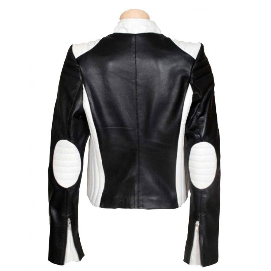 Blonde Ambition Jessica Simpson Motorcycle Leather Jacket