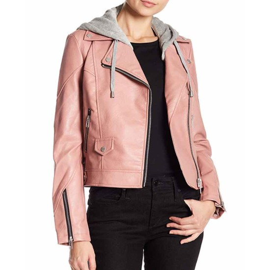 Blue Bloods Marisa Ramirez Biker Pink Leather Jacket