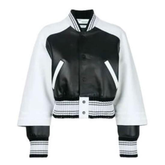 Diamond White The Bold and the Beautiful Bomber Jacket