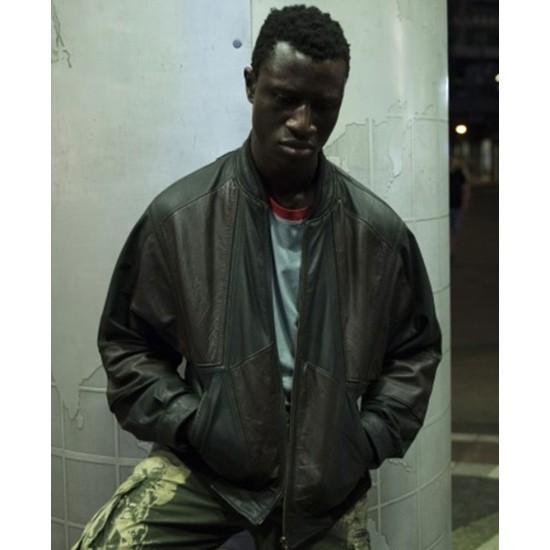 Berlin Alexanderplatz Welket Bungue Bomber Leather Jacket