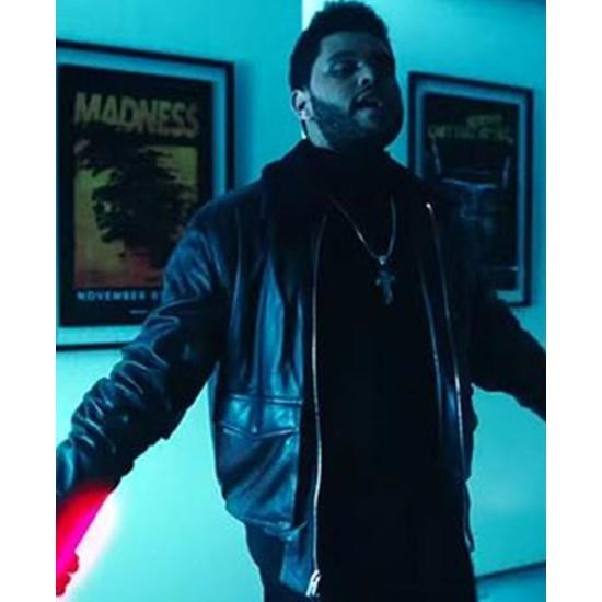 Daft Punk Starboy Bomber Leather Jacket