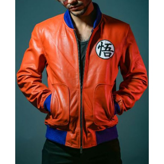 Goku Bomber Leather Jacket