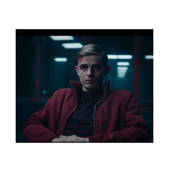 Alex Rider Otto Farrant Bomber Style Red Jacket