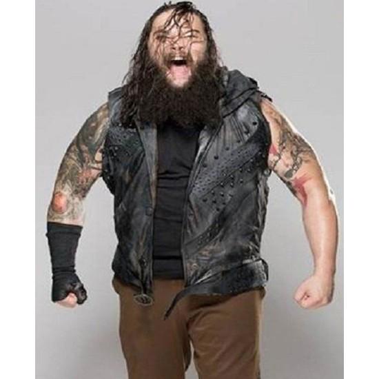 Bray Wyatt Studded Leather Vest