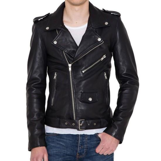 Break Even James Callis Black Leather Jacket