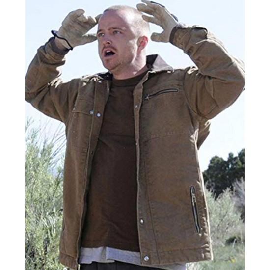 Breaking Bad Aaron Paul Cotton Brown Jacket
