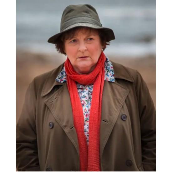 Brenda Blethyn Vera Double Breasted Coat