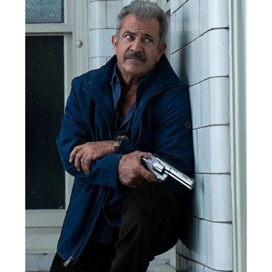 Dragged Across Concrete Mel Gibson Blue Jacket