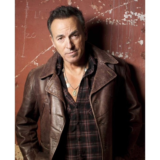 Bruce Springsteen Brown Leather Coat