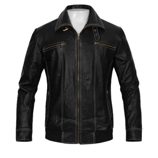 Bruce Willis A Good Day to Die Hard Black Leather Jacket