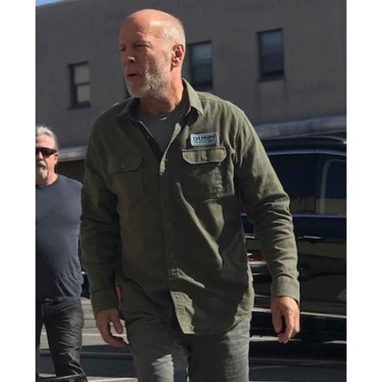Bruce Willis Glass Green Jacket
