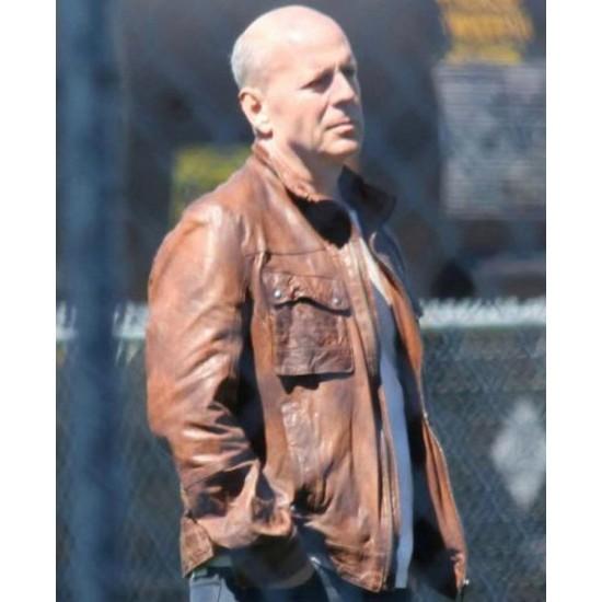 Bruce Willis Looper Joe Brown Leather Jacket