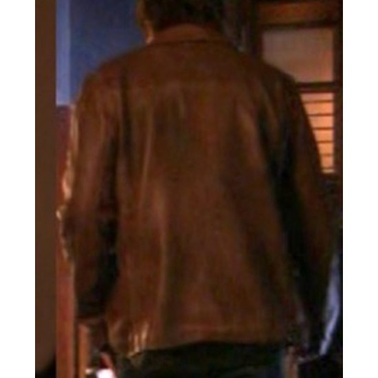 Californication Hank Moody Distressed Brown Leather Jacket