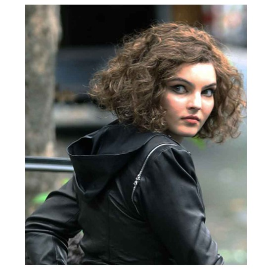 Camren Bicondova Gotham Season 5 Black Leather Jacket