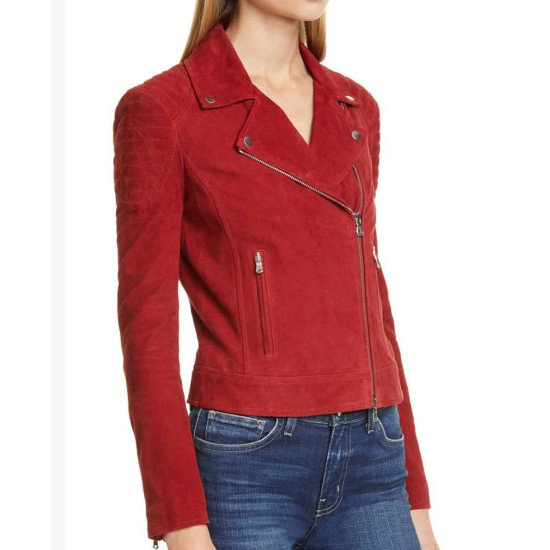 Fuller House Candace Cameron Bure Suede Red Jacket